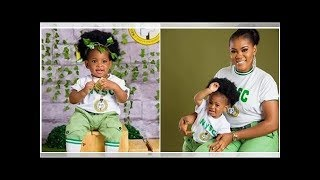 Baby girl looks adorable as she dresses in NYSC uniform on her birthday (photos)
