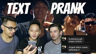 Text Prank Mama Pake Lirik Lagu  Young Lex Ft Awkarin Bad  Gone Wrong!!