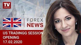 InstaForex tv news: 17.02.2020: USD to surpass 100 with no effort (USDХ, CAD, EUR)