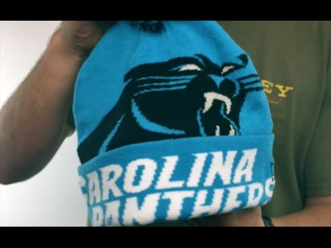 3a8610d7dca Panthers  COLOSSAL-TEAM  Blue Knit Beanie Hat by New Era - YouTube