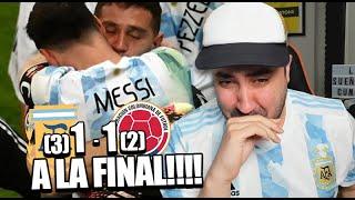 ARGENTINA 1 (3) - (2) 1 COLOMBIA | Reacción de un Argentino | Copa América 2021