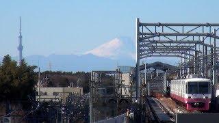 【60p】富士山、スカイツリー、新京成電車 (新鎌ヶ谷駅)