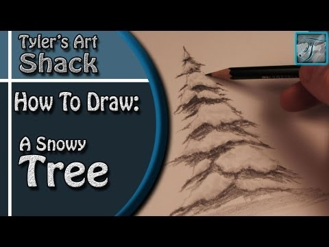 How to Draw a Snow Covered Tree