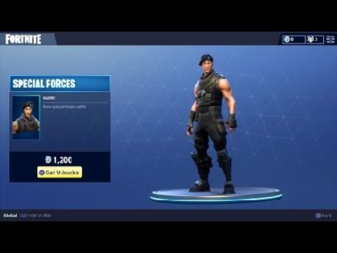 Special Forces Character Skin - Daily Outfit in Fortnite Battle Royale - YouTube