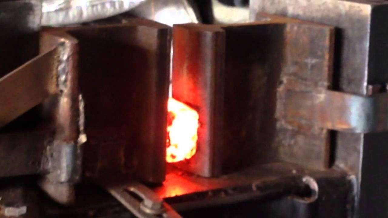 33 Ton Log Splitter Hydraulic Press Damascus Youtube
