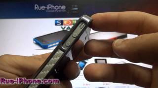 Coque iPhone 4 Carbone Fibre Charcoal Edition Luxe Gris en vente sur Rue-iPhone.com