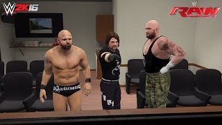 WWE 2K16 John Cena vs Chris Jericho RAW feat. The Club/AJ Styles (RAW June 27, 2016 Custom Scenario)