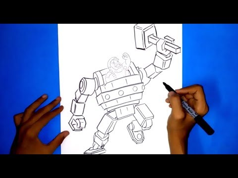 HOW TO DRAW BATTLE MACHINE | CLASH OF CLANS