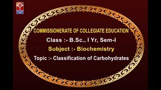 T-SAT || CCE || Biochemistry - Classification of Carbohydrates || Live With A.Chandra Shekhar