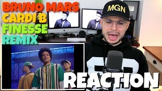 Bruno Mars - Finesse (Remix)(Feat. Cardi B) | REACTION