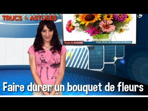 trucs et astuces faire durer un bouquet de fleurs youtube. Black Bedroom Furniture Sets. Home Design Ideas