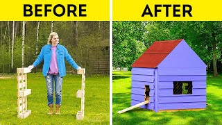NEW WAYS OF USING WOODEN PALLETS || DIY Miniature House Made Out Of Pallets!