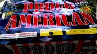Proud American 500 Gram Cake By Ninja Fireworks