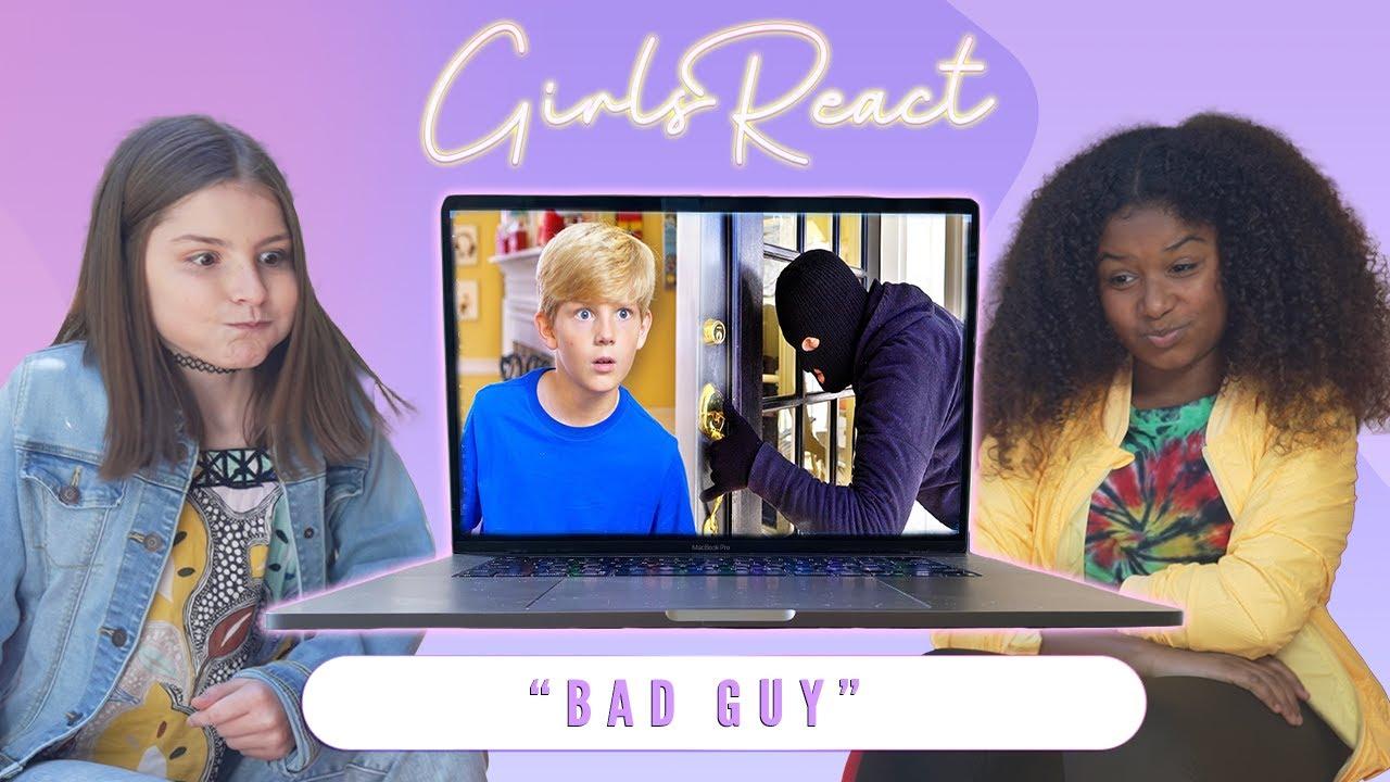 Girls React:  Austin - Bad Guy (Music Video)