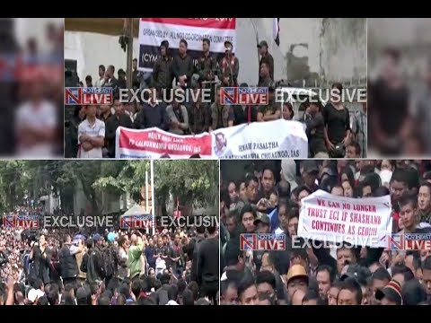 Thousands take to the streets in Aizawl demanding removal of CEO SB Shashank