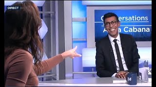 Younous Omarjee (FI) face à Anna Cabana -