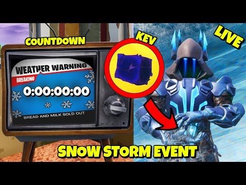 LIVE: 6 HOURS LEFT - SNOW STORM EVENT COUNTDOWN IN FORTNITE