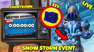 LIVE: 3 HOURS LEFT - SNOW STORM EVENT COUNTDOWN IN FORTNITE