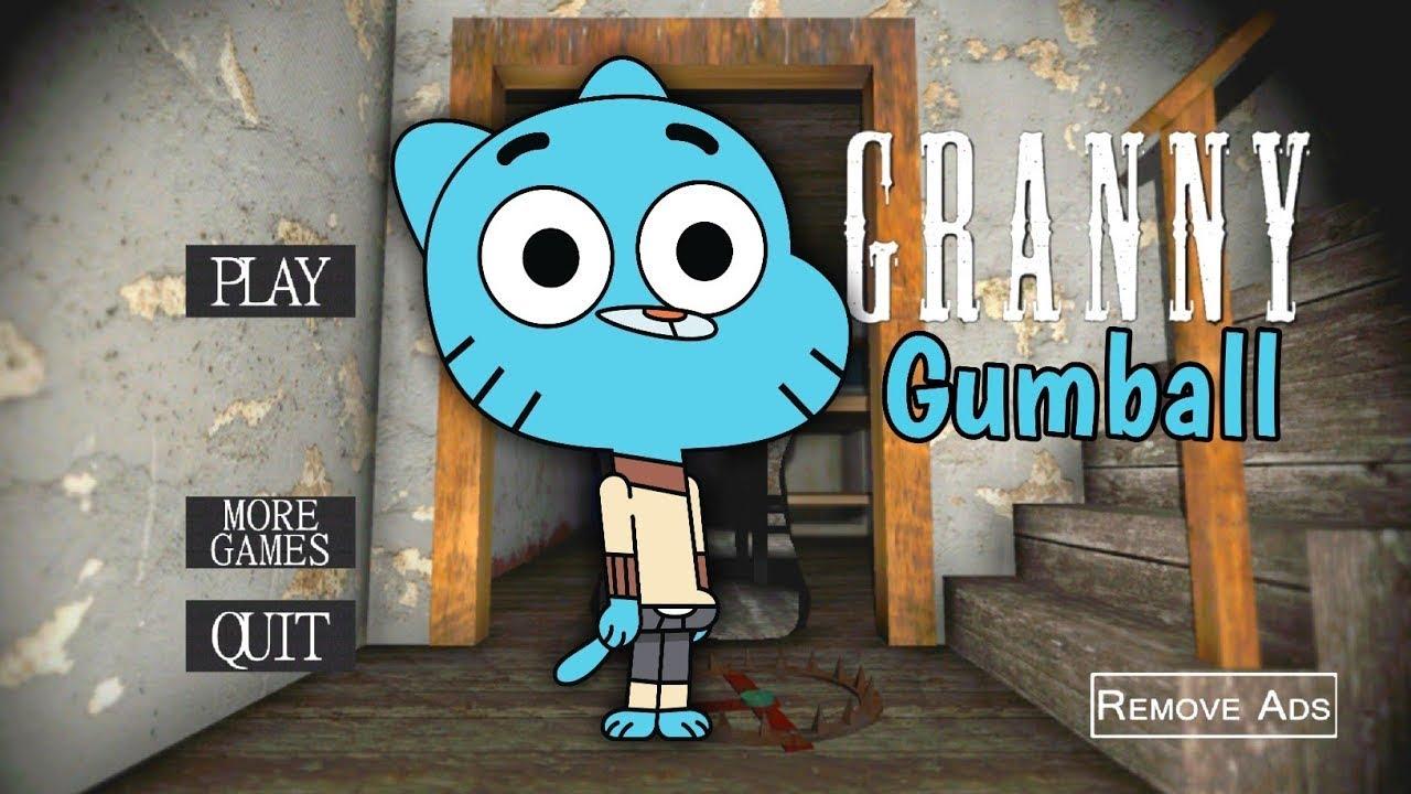 جراني تحولت لي غامبول🐱💙👹granny is gumball |جراني تحديث الجديد|horror game|grany garnny