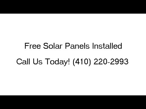 Free Solar Panel Installation Ferndale MD (410) 220-2993 Free Home Solar System