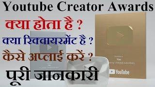 How to Apply for YouTube Silver, Gold & Diamond Play Button | Creators Award Kya Hai in Hindi | HTS