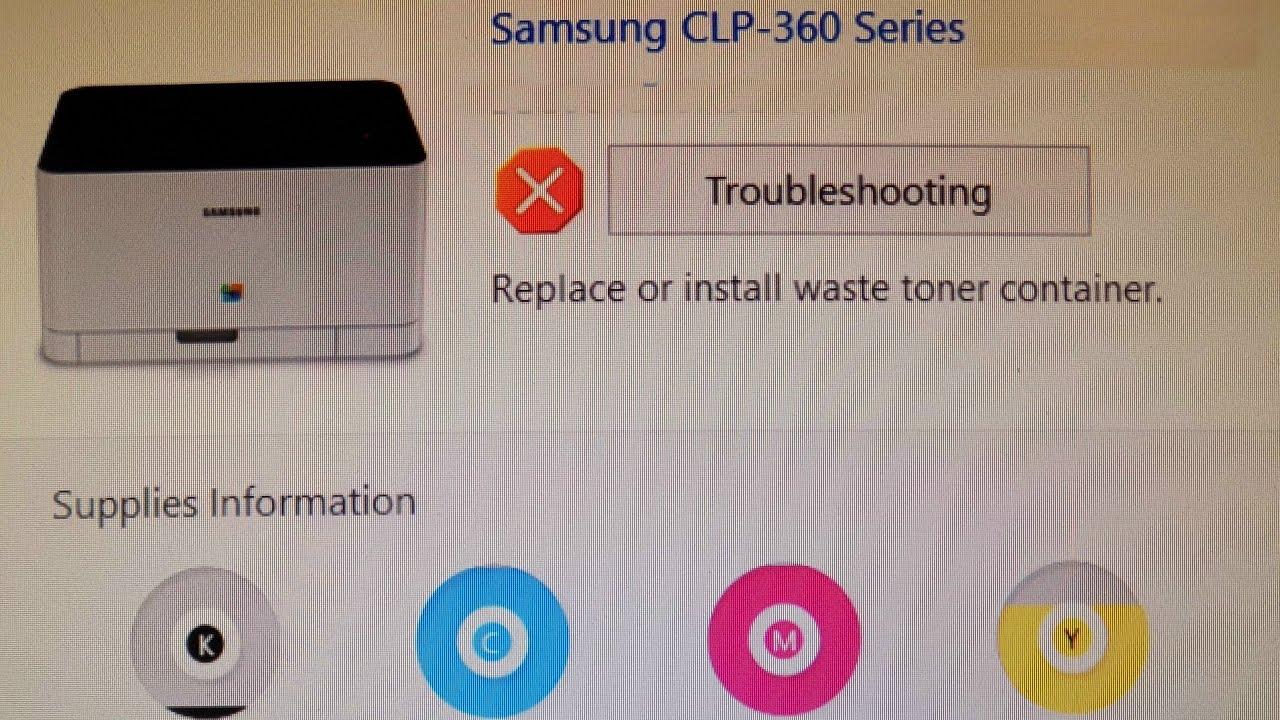 Samsung CLP-365W Printer XPS Drivers for Windows 10