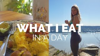 WHAT I EAT IN A DAY (ON A DIET) + GLUTE WORKOUT   SS Episode 3