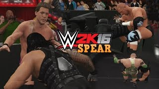 WWE 2K16 - Roman Reigns SPEAR Compilation