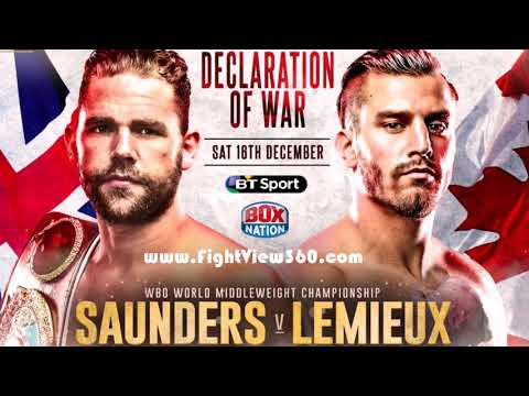 FIGHT WEEK! SAUNDERS VS LEMIEUX TRASH TALKING MEDIA CONFERENCE CALL! SAUNDERS VS LEMIEUX 12/16 HBO!