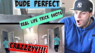 REAL LIFE TRICK SHOTS | DUDE PERFECT REACTION!!!