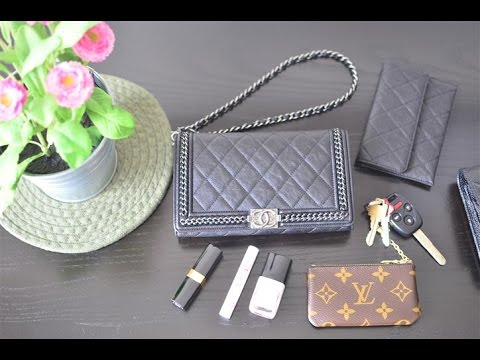 725aa5ca904 Chanel Le Boy Bag Wallet on Chain (WOC) w  short strap Review (What s in my  bag ) - YouTube