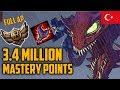 Bronze 4 Full AP Cho'Gath 3,400,000 MASTERY POINTS- Spectate Highest Mastery Points on Cho
