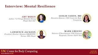 USC Body Computing Conference 2018, Interview: Mental Resilience