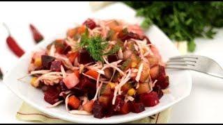 Салат Винегрет со свежей капустой
