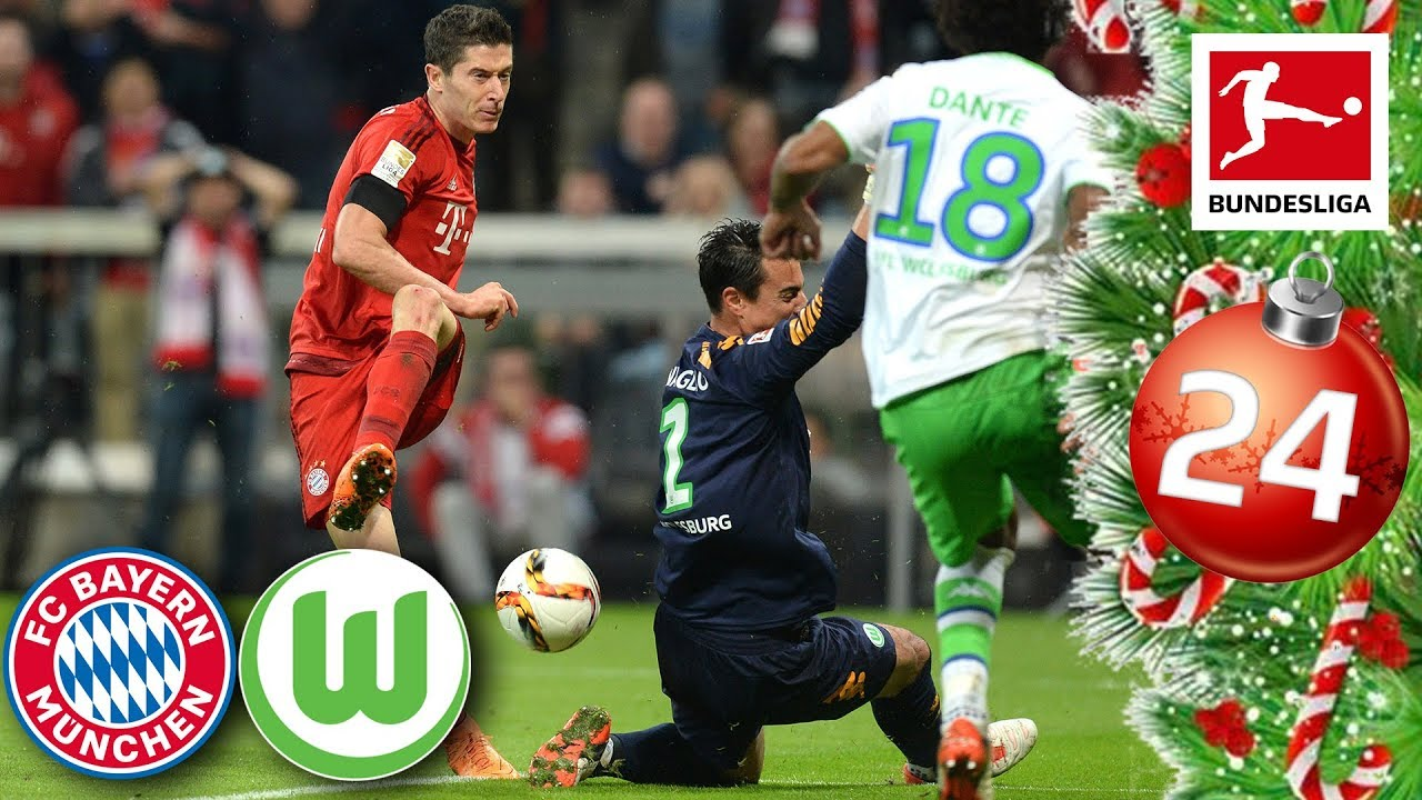 Download FC Bayern vs. Wolfsburg - Lewandowski's 5 Goals in 9 Minutes   FULL GAME 15/16   Advent Calendar 24