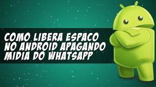 Como apagar os arquivos (mídia) do whatsapp e liberar memória do Android