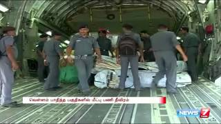 வெள்ளம் பாதித்த பகுதிகளில் மீட்பு பணி தீவிரம் | The intensity of the recovery work in flood-hit areas - Chennai ghost rain spl tamil video hot news 03-12-2015