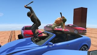 Насилие над кола! GTA 5