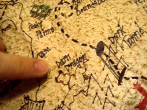 Old Treasure Map By Pirates To Find Hidden Stock Image