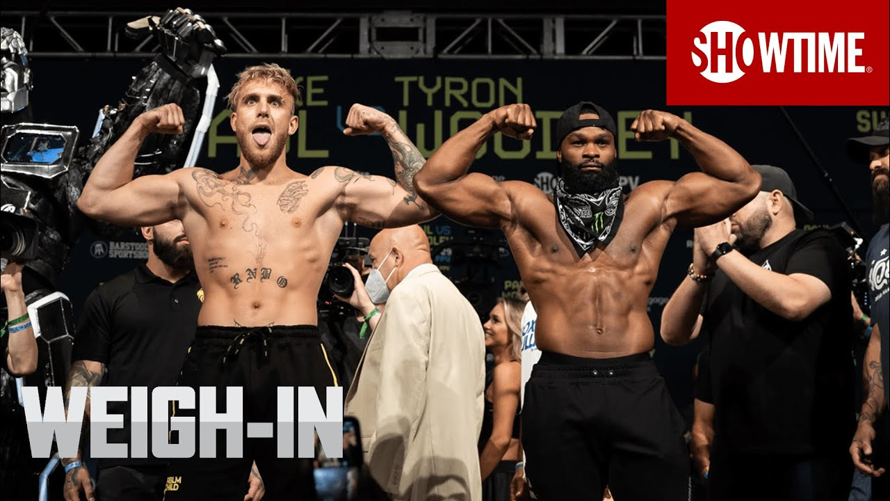 Download Jake Paul vs Tyron Woodley - Official Weigh In [FINAL FACE OFF]