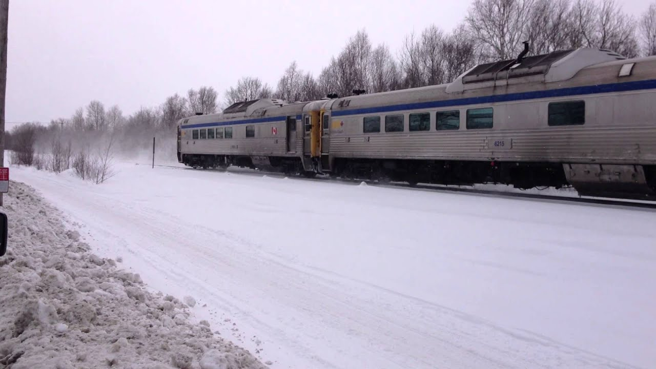 Northbound Via Sudbury White River Passenger Train Near