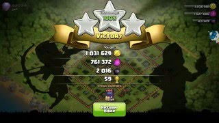 Clash Of Clans : COC : 100 witch attack on the top player th 11 OMG