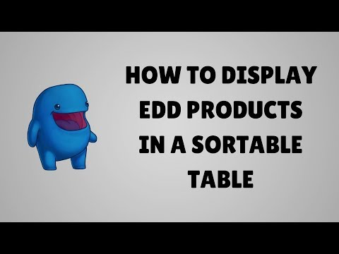 How to display Easy Digital Download products in a table