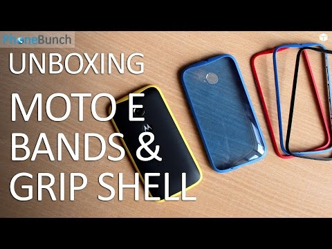 Moto E (2nd Gen) 2015 Color Bands and Grip Shell