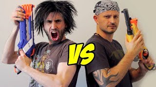 Nerf War: SHOTGUN vs SHOTGUN! thumbnail