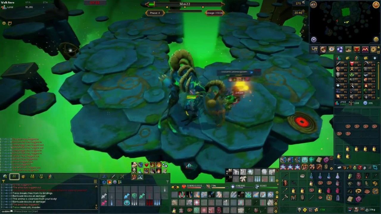 Killing Telos with melee with 501% enrage + Warden title by GKinstro