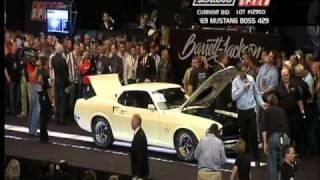 """Kevin's Klassic Cars"" White Boss 429 at Barrett-Jackson Jan. 2011"