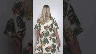 Vídeo: VESTIDO PIÑA TROPICAL