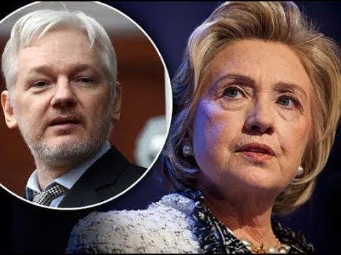 Julian Assange Just K Ń ō Č k ě Ď hillary clinton Ď ō w Ń with This Tweet