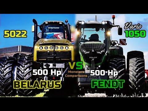 Belarus 5022 VS FENDT 1050 Vario - Ultimate Size/Power Comparison (500 Hp vs 500 Hp)
